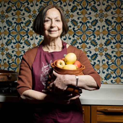 Claudia Roden shot for OFM at her home in north london